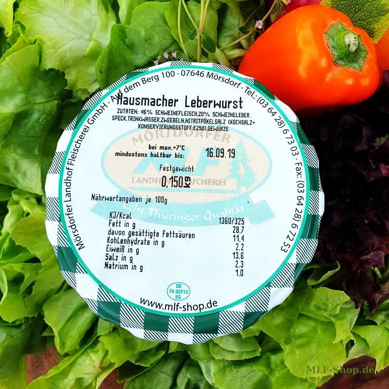 Hausmacher thüringer Leberwurst 150g